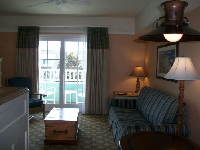 Disney's Beach Club One Bedroom Living Space
