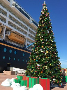 Disney decorates Castaway Cay for the holidays. Photo - Laurel Stewart