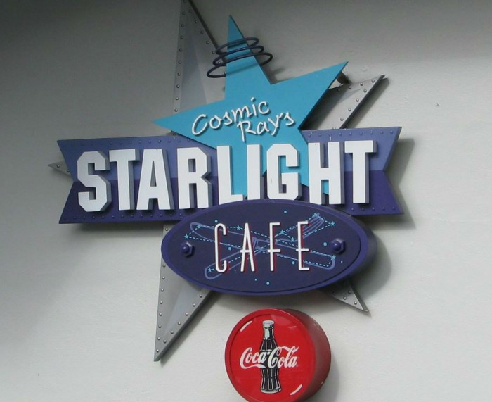 Cosmic Ray's Starlight Café offers a wide-ranging menu, one of a kind entertainment, and an amazing topping bar!