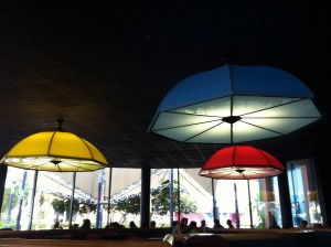 These are the Electric Umbrellas that give the restaurant its name.