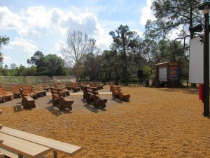 Fort Wilderness has a dedicated theater area for outdoor movies