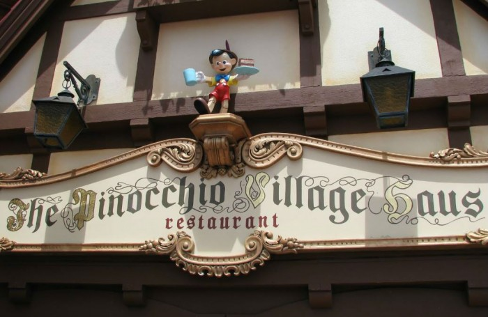 Pinocchio Village Haus borders classic Fantasyland and New Fantasyland offering flatbreads, subs, and salads.