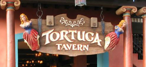 After touring the Caribbean with some pirates, stop by Tortuga Tavern.