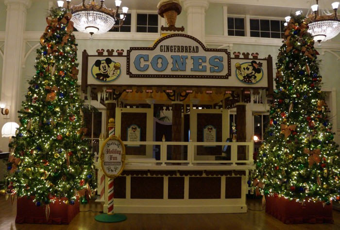 The Boardwalk gingerbread store doesn't get as much attention as the Grand Floridian, but still is impressive. (Photo by Julia Mascardo)