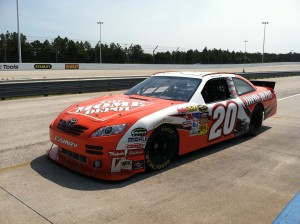 On the race track at the Richard Petty Driving Experience ©Rikki Niblett