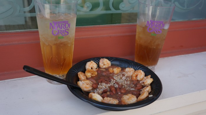 Cajun Shrimp with red beans and rice $10.99