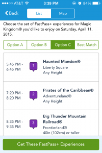 Some evening FastPass+ reservations