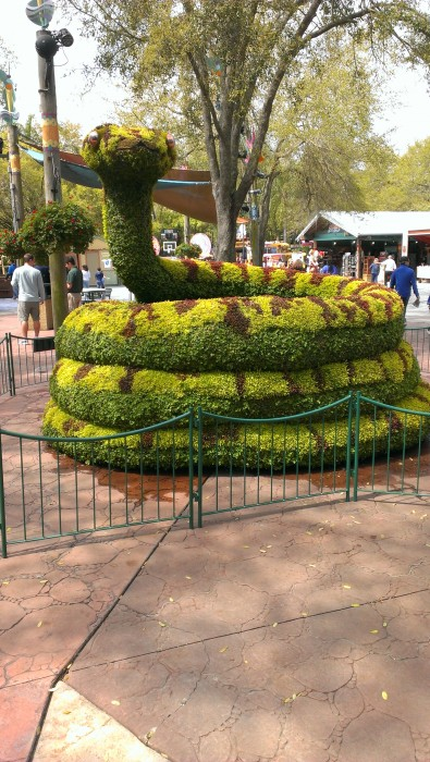 One of the impressive topiaries at the Busch Gardens Food and Wine Festival