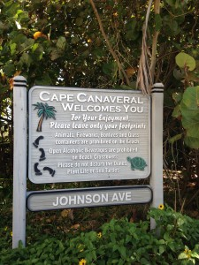 Simple rules at the public beach access on Johnson Ave. in Cape Canaveral.