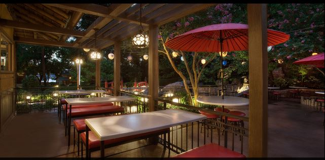 Outside Katsura Grill seating Photo courtesy of Disney (c)