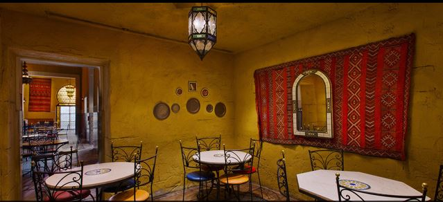 Morocco Pavilion is filled with beautiful details. Take a seat, enjoy your meal, and soak it all in. Photo courtesy of Disney (c)