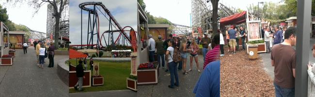 The crowds change dramatically from early morning to afternoon at the Busch Gardens Food and Wine Festival.