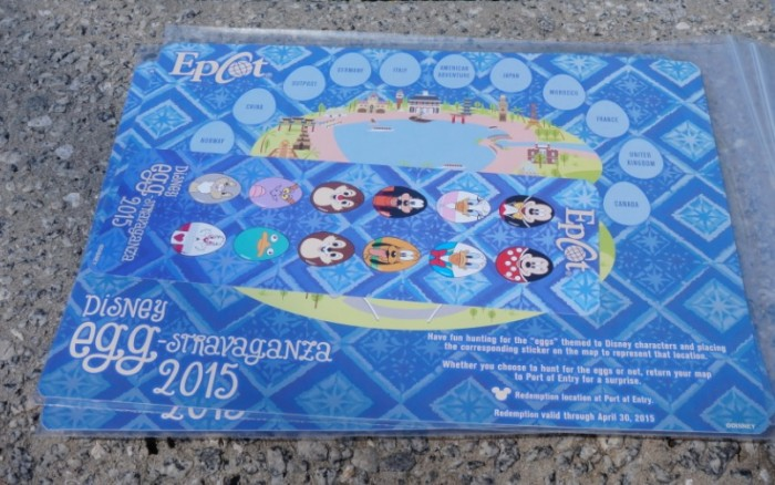 The souvenir map includes stickers to put on the map. (Photo by Julia Mascardo)