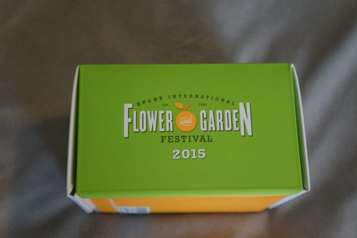 The side of the box shows the Flower and Garden Festival logo. (Photo by Julia Mascardo)