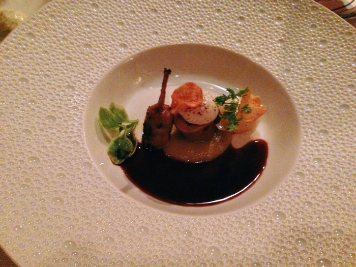 The quail was good, but the sunchokes were awesome! (Photo by Julia Mascardo)