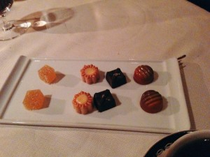 Friandises to finish the meal. (Photo by Julia Mascardo)
