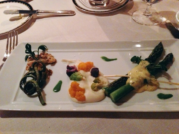 I'm not a vegetarian, but the vegetarian course could (almost) make me swear off of meat. (Photo by Julia Mascardo)