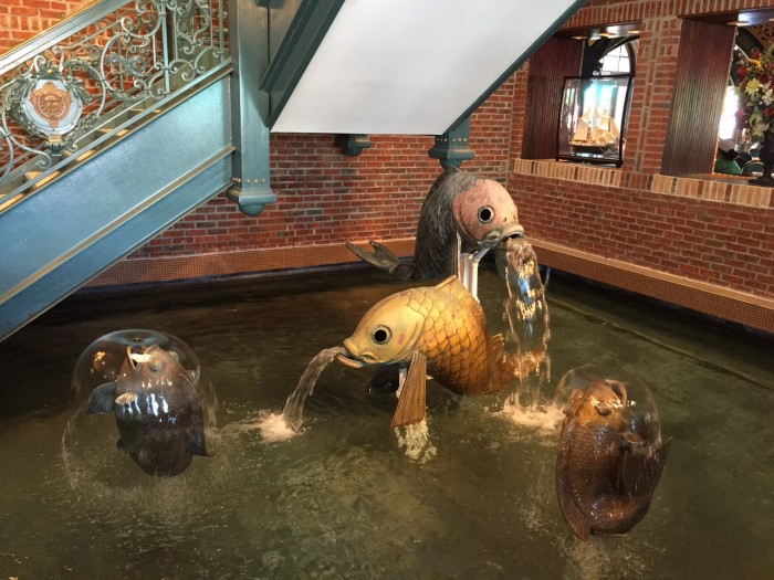 Lombard's Seafood Grille -- fish statues.