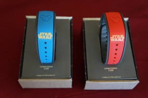 The MagicBands feature Jedi Mickey or Jedi Donald on one side Star Wars Weekends on the other. (Photo by Julia Mascardo)