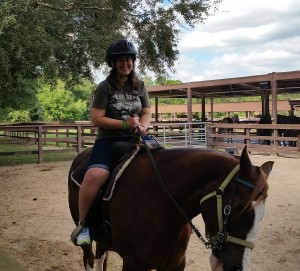 horseback riding at Fort Wilderness - Amy Farkas