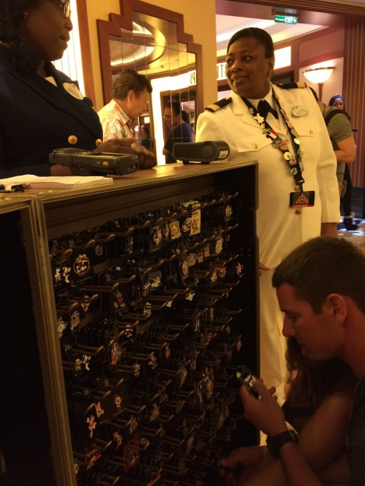 Officer Pin Trading Night on the Disney Dream