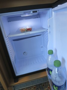 "The ""beverage chiller"" in your stateroom looks like a refrigerator, but it's not quite as cold"