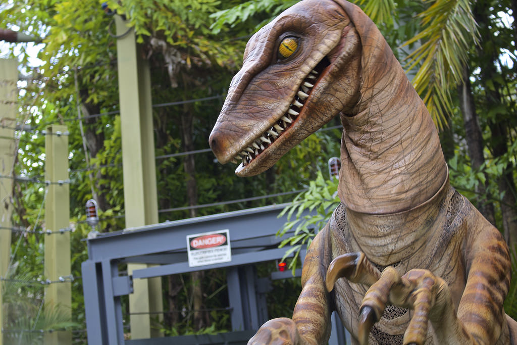 Orlando Florida November 30 2017 Juric Park Dinosaur And Jeep At Universal