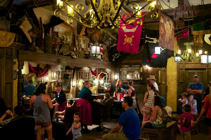The interior of the Pirate's League