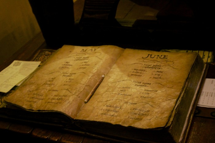 The mysterious book of pirate names