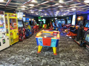 Master the games at the arcade.