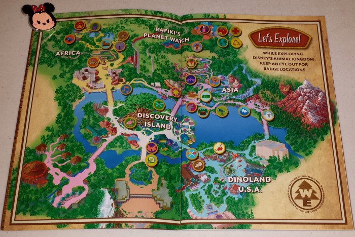 This map of the park shows where you have to go to earn your badges.
