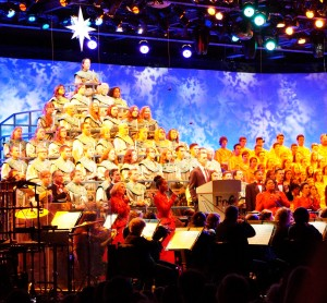 The Candlelight Processional is a spectacular retelling of the Christmas story. (Photo by Julia Mascardo)