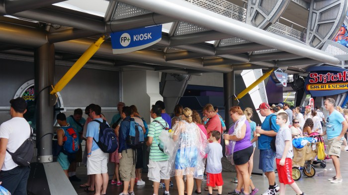 FastPass+ kiosks often have a wait time themselves