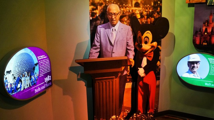 Roy O. Disney at the dedication of Walt Disney World (photo by Brandon Glover)