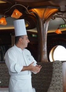 Chef Cedrik, Executive Chef of Remy on the Disney Dream.