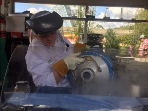 If you've never seen cooking with liquid nitrogen, it is fascinating to watch. (Photo by Julia Mascardo)