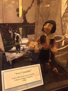In addition to the presentation, we got to see artifacts from the Disney archives up close, like this Gaucho doll made for Walt when he was on location for Saludos Amigos. (Photo by Julia Mascardo)