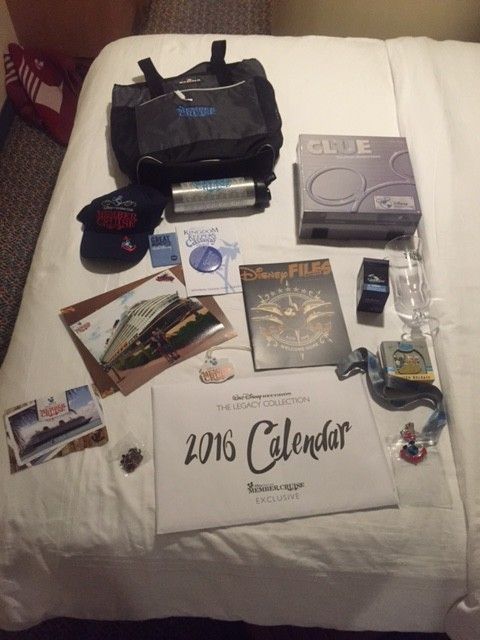 Hereu0027s what one personu0027s amount of DVC Member Cruise gifts looks like. (Photo by & Disney Dream 2015 DVC Member Cruise Review - TouringPlans.com Blog