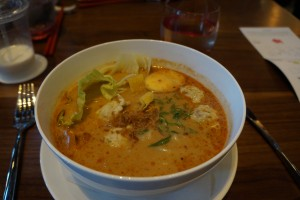 Singapore laksa noodle. (Photo by Julia Mascardo)