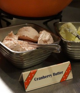 Although simple, the cranberry butter was a wonderful touch to the meal. (Photo by Julia Mascardo)