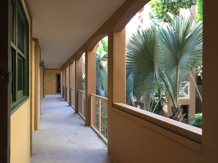 Hallways leading to DVC Villa rooms