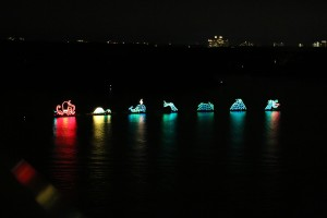 Anyone is welcome to view the Electrical Water Pageant at no charge.