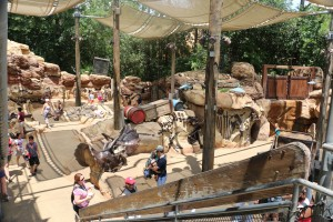 The Boneyard is a great place for little kids to hang out while big kids go on the scary rides.