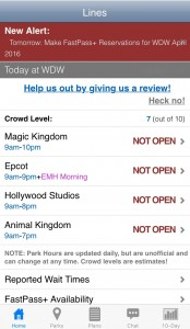 FastPass alert screen shot