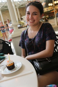 A cupcake on your birthday is a frequent Disney treat.