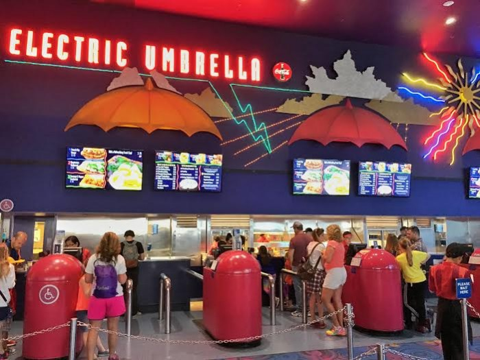 Ordering stations at Electric Umbrella