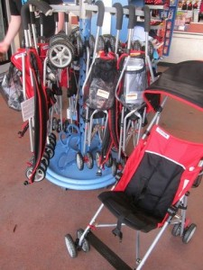 Basic umbrella strollers are sold at the WDW theme parks and many resort gift shops