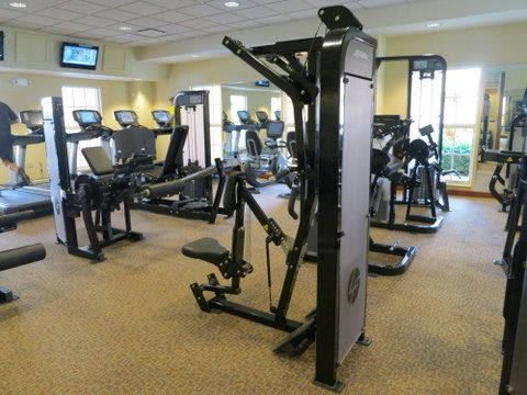There are fitness centers at many of the deluxe resorts.