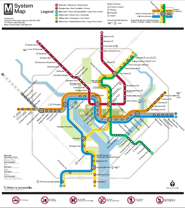 Dc Metro Map Green Line.Washington D C How To Use The Metro Subway Touringplans Com Blog