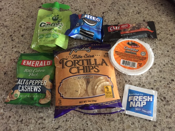 Contents of the magical runDisney snack box.